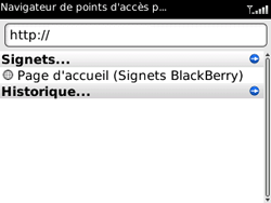BlackBerry 9300 Curve 3G - Internet - Navigation sur Internet - Étape 3