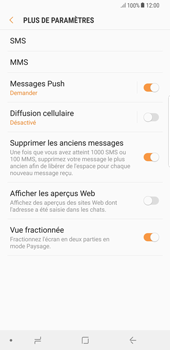Samsung Galaxy S8 Plus - Android Oreo - SMS - configuration manuelle - Étape 7