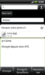 HTC A7272 Desire Z - E-mail - envoyer un e-mail - Étape 9