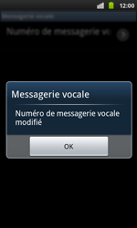 Samsung I9001 Galaxy S Plus - Messagerie vocale - configuration manuelle - Étape 10