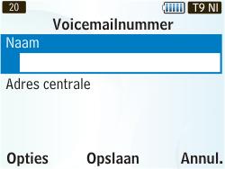 Samsung S3350 Chat 335 - Voicemail - Handmatig instellen - Stap 6