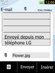 LG T385 - E-mails - Envoyer un e-mail - Étape 12