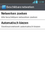 LG E430 Optimus L3 II - Netwerk - Handmatig netwerk selecteren - Stap 10