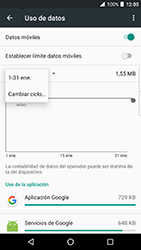 BlackBerry DTEK 50 - Internet - Ver uso de datos - Paso 6