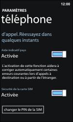 Nokia Lumia 800 - Sécuriser votre mobile - Personnaliser le code PIN de votre carte SIM - Étape 6