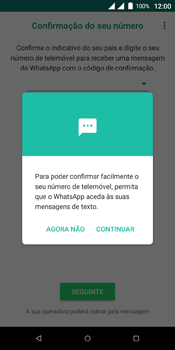 Wiko View Dual SIM - Aplicações - Como configurar o WhatsApp -  11