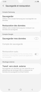 Samsung Galaxy A70 - Données - créer une sauvegarde avec votre compte - Étape 6