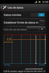 Sony Xperia E - Internet - Ver uso de datos - Paso 5