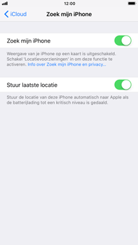 Apple iPhone 8 Plus - Beveiliging en privacy - Zoek mijn iPhone activeren - Stap 8