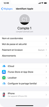 Apple iPhone XS - iOS 13 - Données - créer une sauvegarde avec votre compte - Étape 8