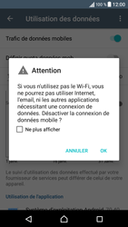 Sony Xperia X - Internet et connexion - Désactiver la connexion Internet - Étape 6