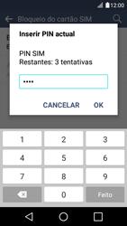 LG K4 - Segurança - Como ativar o código PIN do cartão de telemóvel -  9