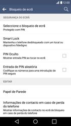 LG K10 4G - Segurança - Como ativar o código de bloqueio do ecrã -  12