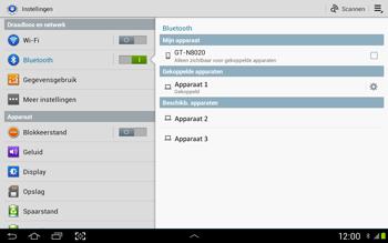 Samsung N8020 Galaxy Note 10-1 LTE - Bluetooth - Headset, carkit verbinding - Stap 7