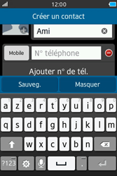 Samsung Wave M - Contact, Appels, SMS/MMS - Ajouter un contact - Étape 5