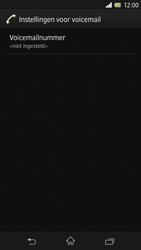 Sony C6603 Xperia Z - Voicemail - Handmatig instellen - Stap 7