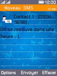 Archos F28 - Contact, Appels, SMS/MMS - Envoyer un SMS - Étape 11