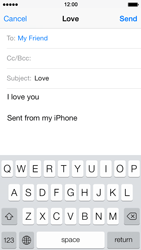 Apple iPhone 5 iOS 7 - Email - Sending an email message - Step 8
