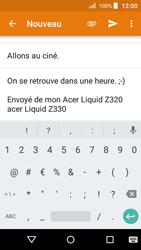 Acer Liquid Z330 - E-mail - Envoi d