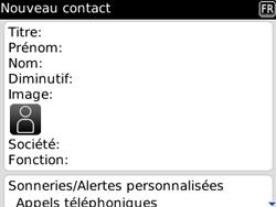 BlackBerry 8520 - Contact, Appels, SMS/MMS - Ajouter un contact - Étape 5