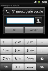 Sony ST27i Xperia Go - Messagerie vocale - configuration manuelle - Étape 8