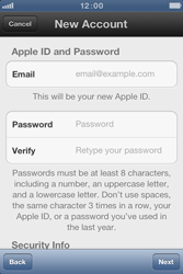 Apple iPhone 4 S - Applications - Create an account - Step 8
