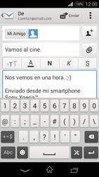 Sony D2203 Xperia E3 - E-mail - Escribir y enviar un correo electrónico - Paso 10
