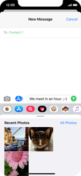 Apple iPhone X - iOS 13 - MMS - Sending a picture message - Step 10