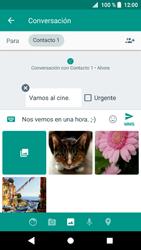 Sony Xperia XZ1 - Mensajería - Escribir y enviar un mensaje multimedia - Paso 12