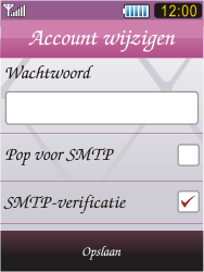 Samsung S7070 Diva - E-mail - handmatig instellen - Stap 14