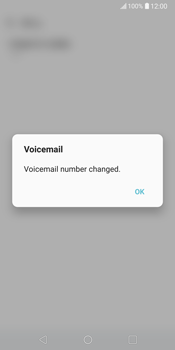 LG V30 - Voicemail - Manual configuration - Step 10