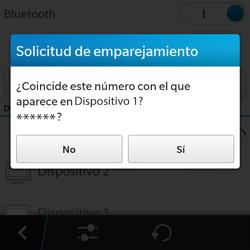 BlackBerry Q5 - Bluetooth - Conectar dispositivos a través de Bluetooth - Paso 8