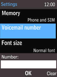 Nokia 220 - Voicemail - Manual configuration - Step 8