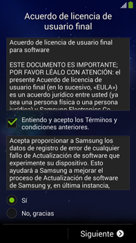 Samsung Galaxy Note 3 - Primeros pasos - Activar el equipo - Paso 7