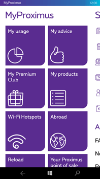 Microsoft Lumia 950 XL - Applications - MyProximus - Step 10