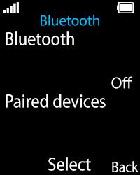 Nokia 108 - WiFi and Bluetooth - Setup Bluetooth Pairing - Step 5