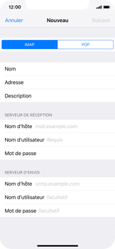 Apple iPhone X - iOS 12 - E-mail - Configuration manuelle - Étape 12