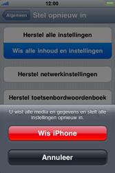 Apple iPhone 3G S - Probleem oplossen - Toestel resetten - Stap 6