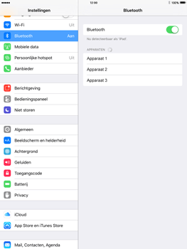 Apple iPad mini iOS 9 - WiFi en Bluetooth - Bluetooth koppelen - Stap 5
