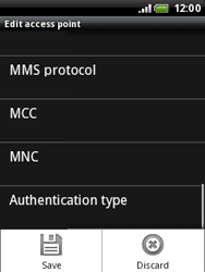 HTC A3333 Wildfire - MMS - Manual configuration - Step 11