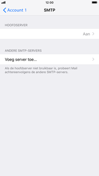 Apple iPhone 8 Plus - iOS 12 - E-mail - Account instellen (POP3 zonder SMTP-verificatie) - Stap 17