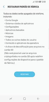Samsung Galaxy S8 - Funções básicas - Como restaurar as configurações originais do seu aparelho - Etapa 7