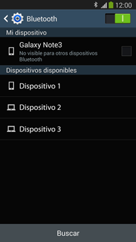 Samsung Galaxy Note 3 - Bluetooth - Conectar dispositivos a través de Bluetooth - Paso 6