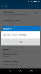 HTC Desire 626 - Voicemail - Manual configuration - Step 8