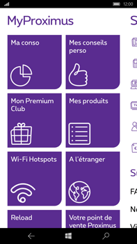 Microsoft Lumia 950 XL - Applications - MyProximus - Étape 11