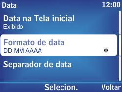 Nokia Asha 302 - Funções básicas - Como configurar data e hora - Etapa 11