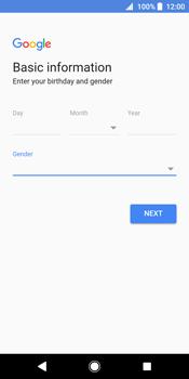 Sony Xperia XZ2 - Applications - Create an account - Step 9