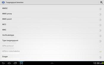 Samsung N8000 Galaxy Note 10-1 - Internet - Handmatig instellen - Stap 13
