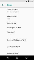 Motorola Moto X4 - Primeiros passos - Como encontrar o número de IMEI do seu aparelho - Etapa 5