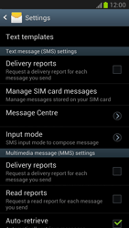 Samsung N7100 Galaxy Note II - SMS - Manual configuration - Step 4